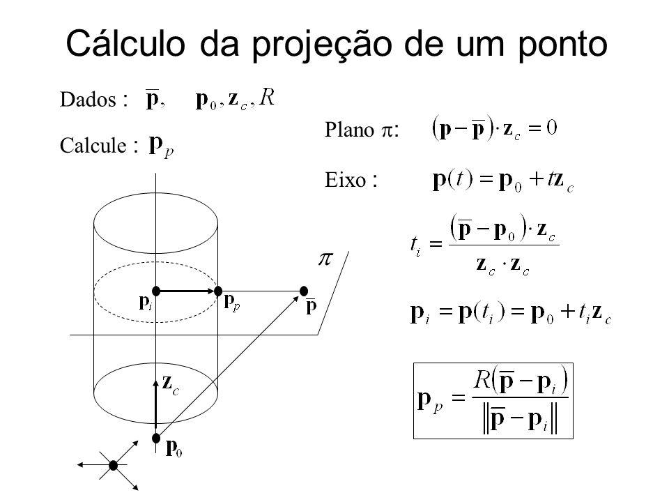 Cálculo da projeção de um ponto