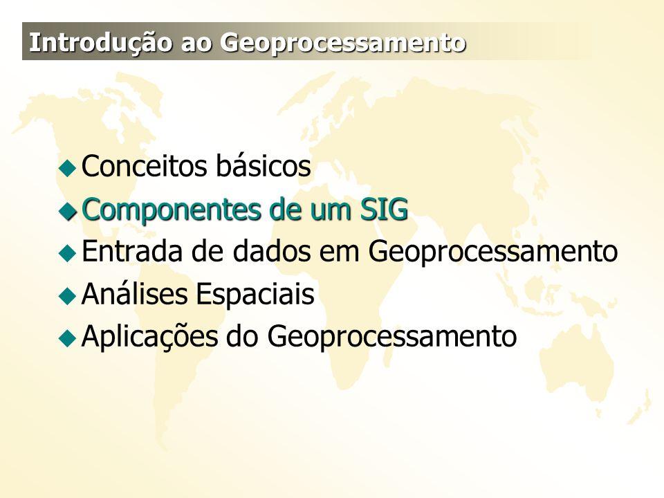 Entrada de dados em Geoprocessamento Análises Espaciais