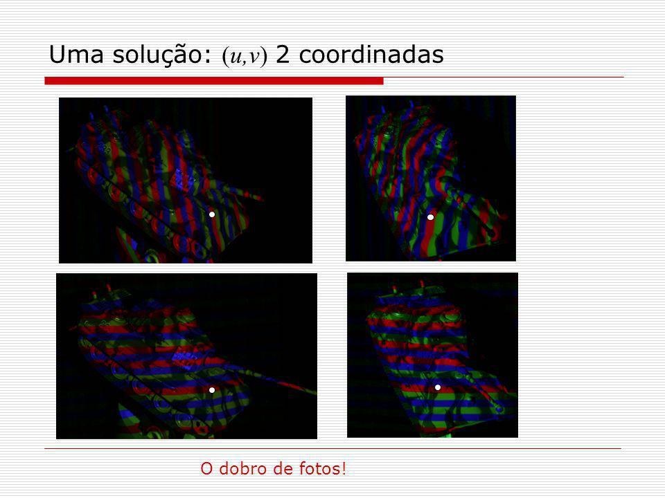 Uma solução: (u,v) 2 coordinadas