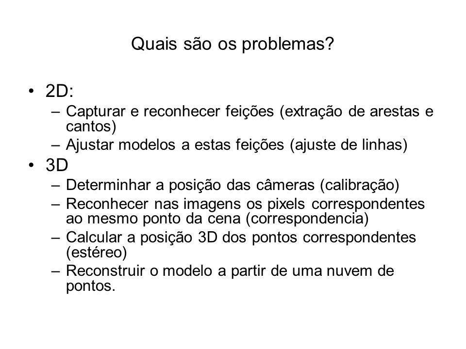 Quais são os problemas 2D: 3D