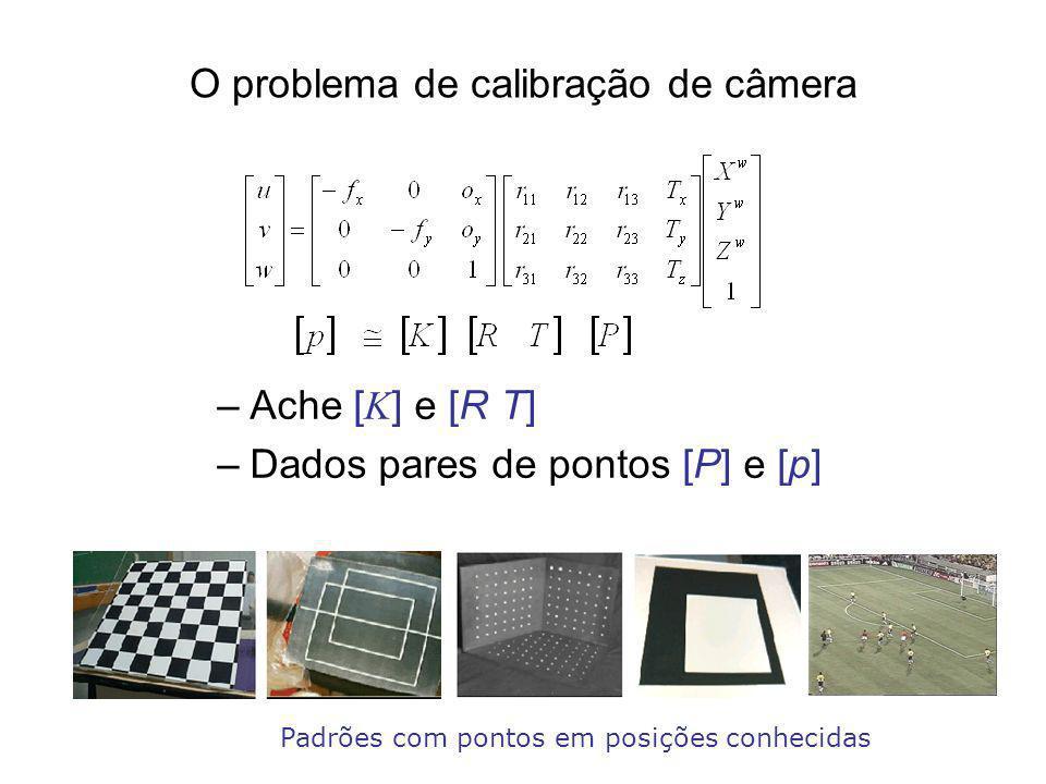 O problema de calibração de câmera