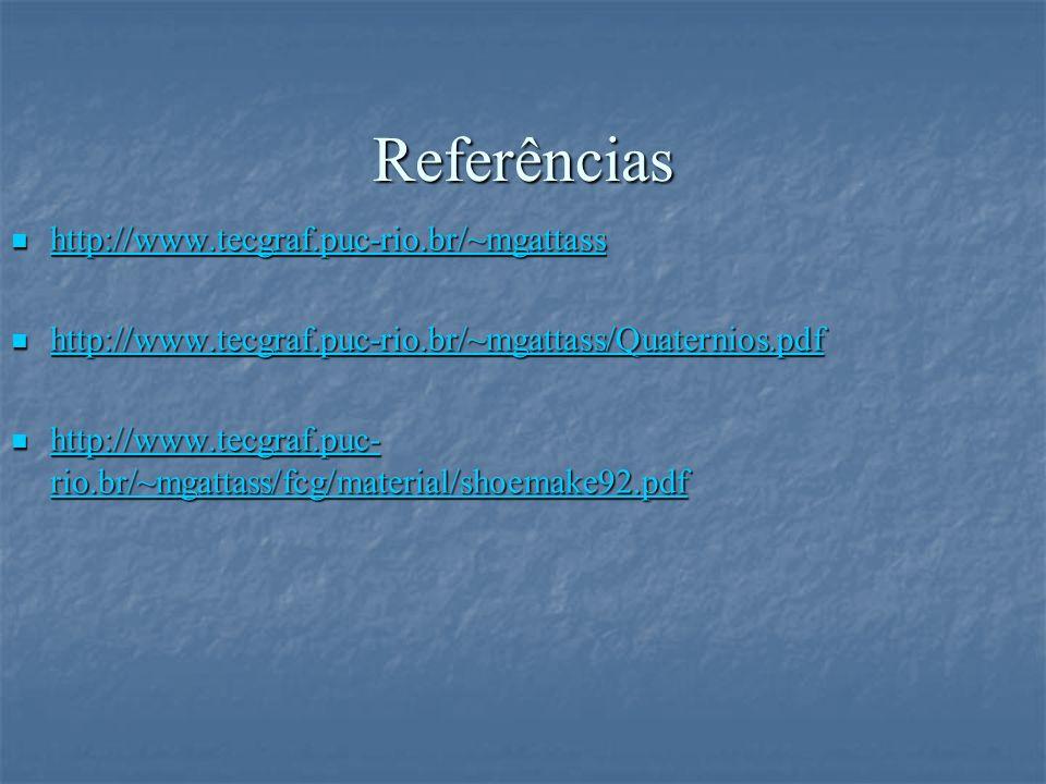 Referências http://www.tecgraf.puc-rio.br/~mgattass