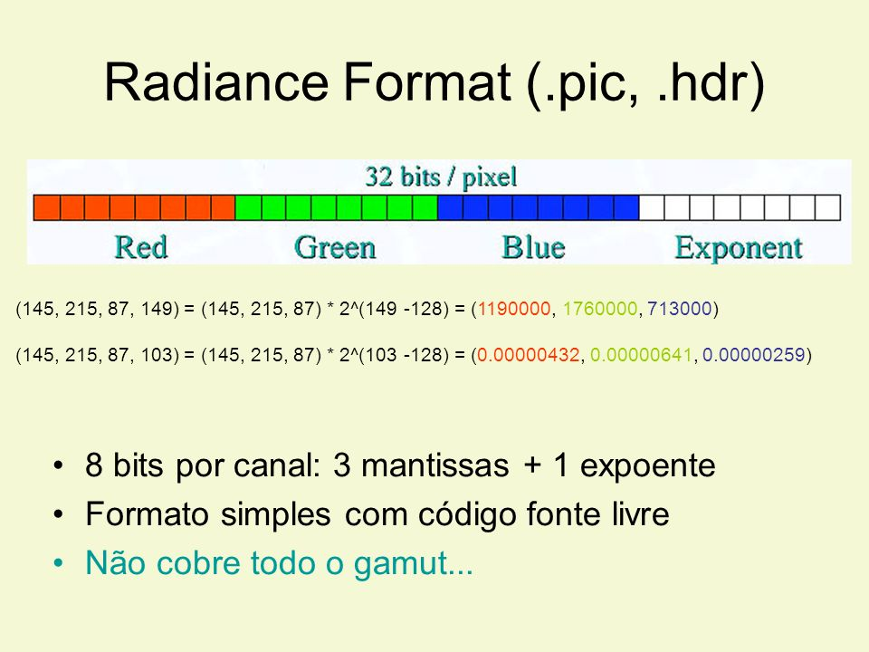 Radiance Format (.pic, .hdr)