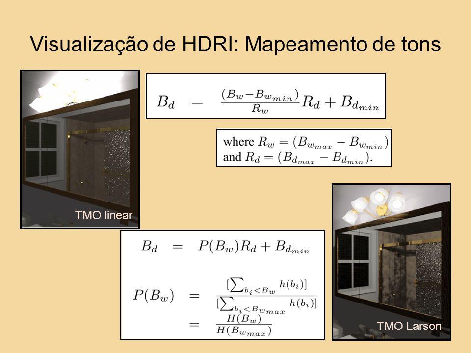Visualização de HDRI: Mapeamento de tons