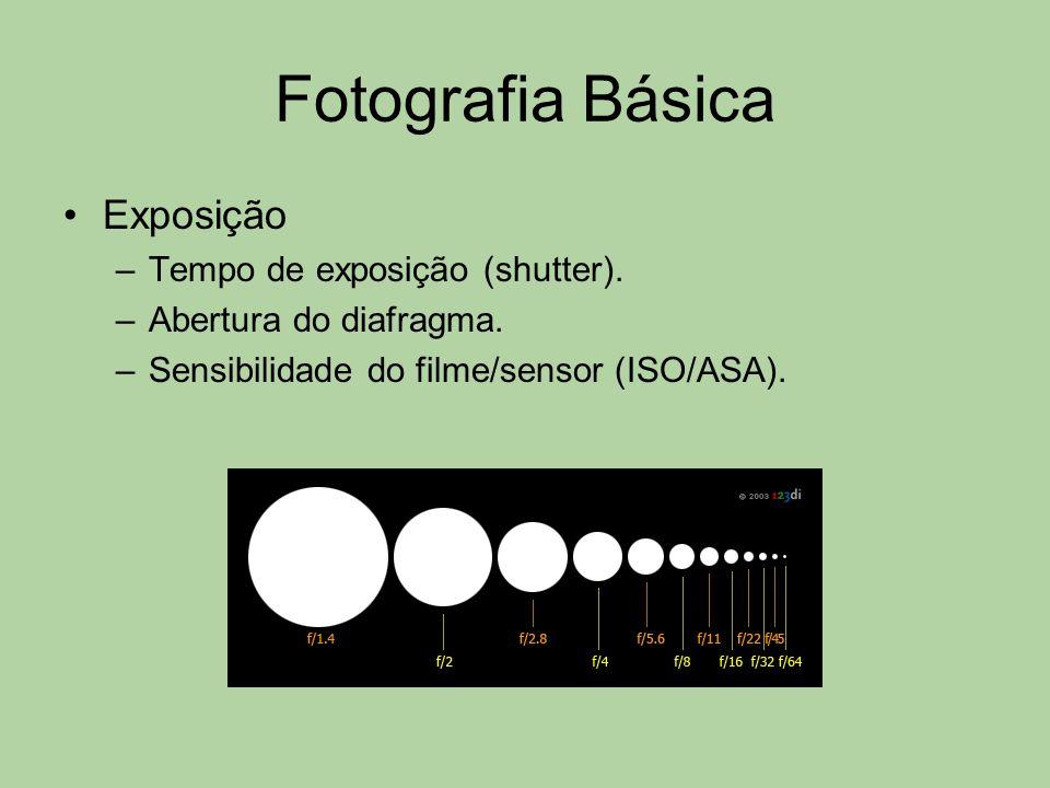 Fotografia Básica Exposição Tempo de exposição (shutter).