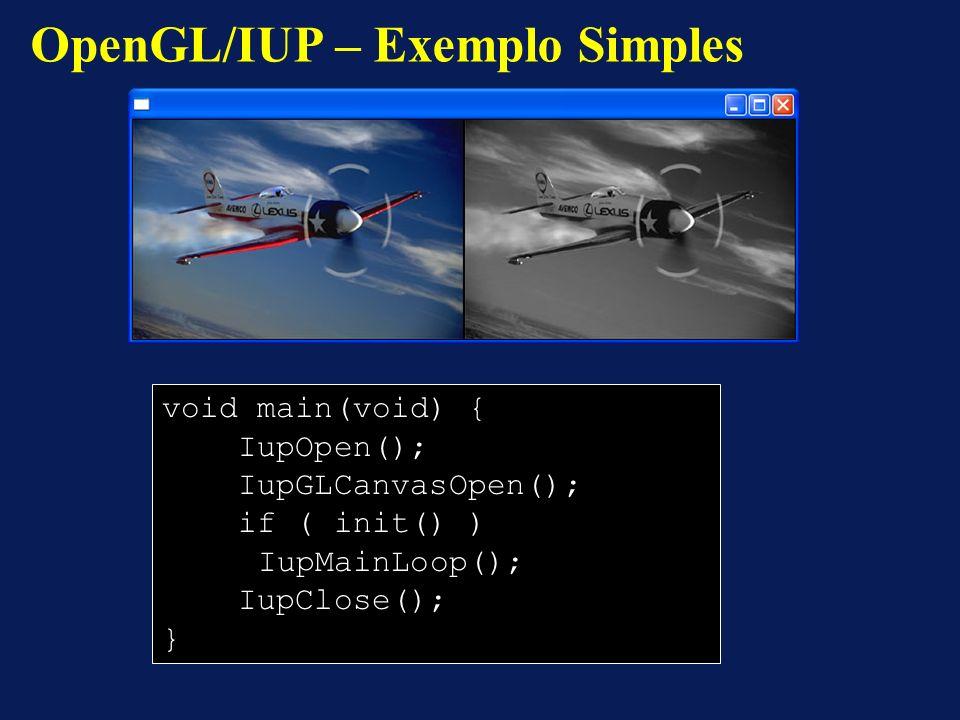 OpenGL/IUP – Exemplo Simples