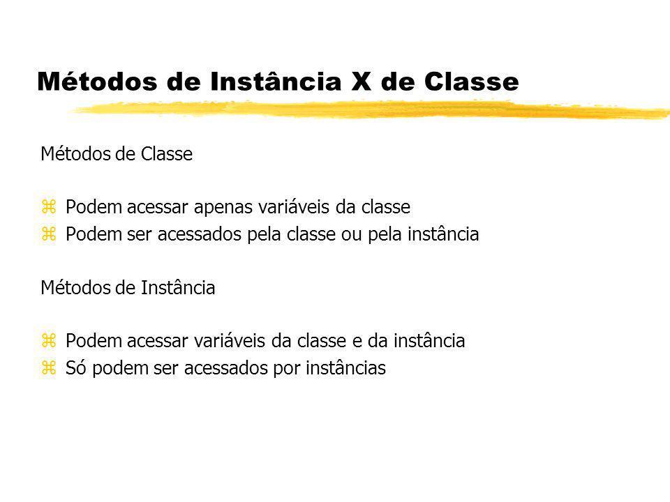 Métodos de Instância X de Classe