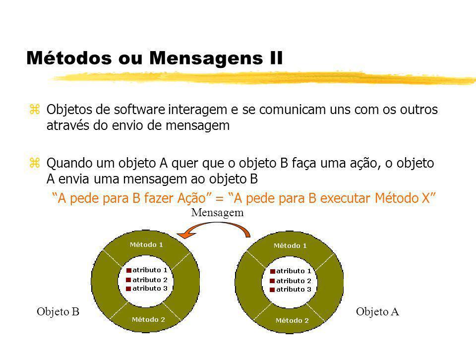 Métodos ou Mensagens II