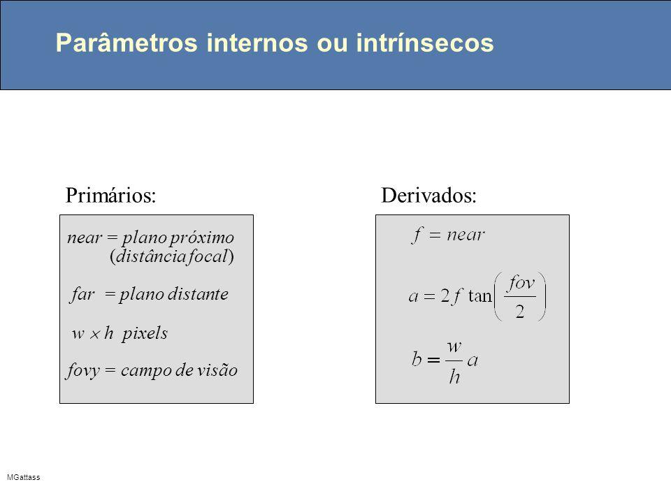 Parâmetros internos ou intrínsecos