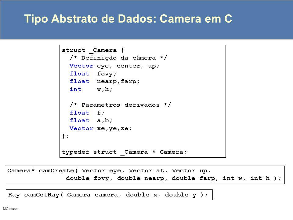 Tipo Abstrato de Dados: Camera em C