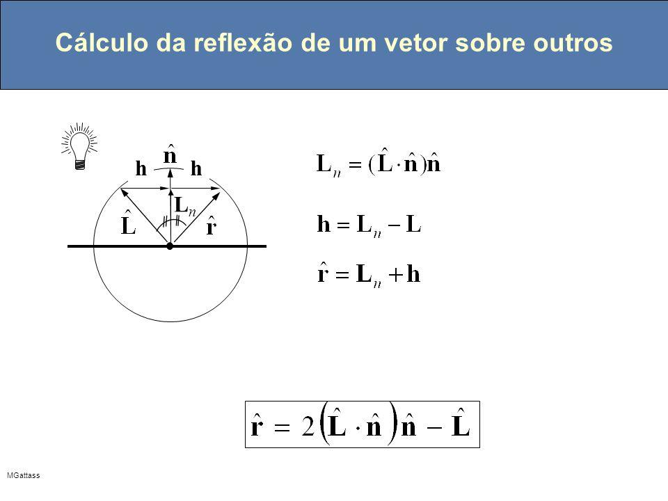Cálculo da reflexão de um vetor sobre outros