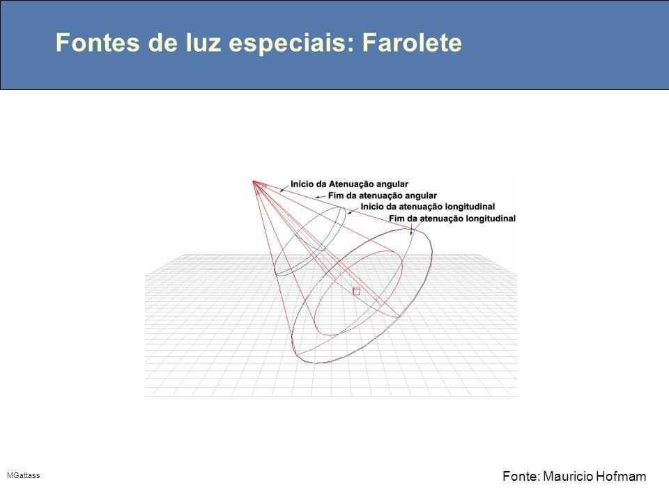 Fontes de luz especiais: Farolete