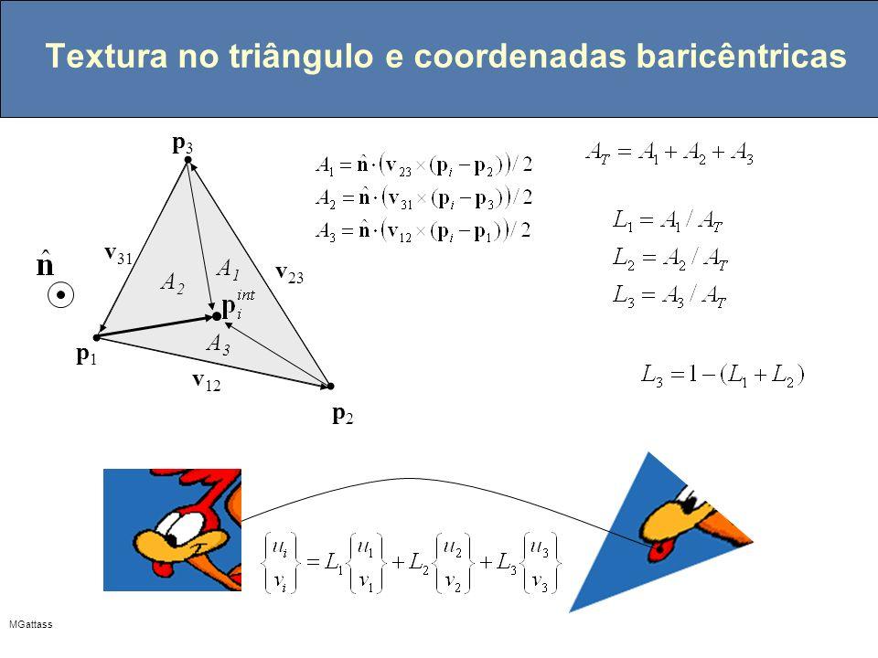 Textura no triângulo e coordenadas baricêntricas
