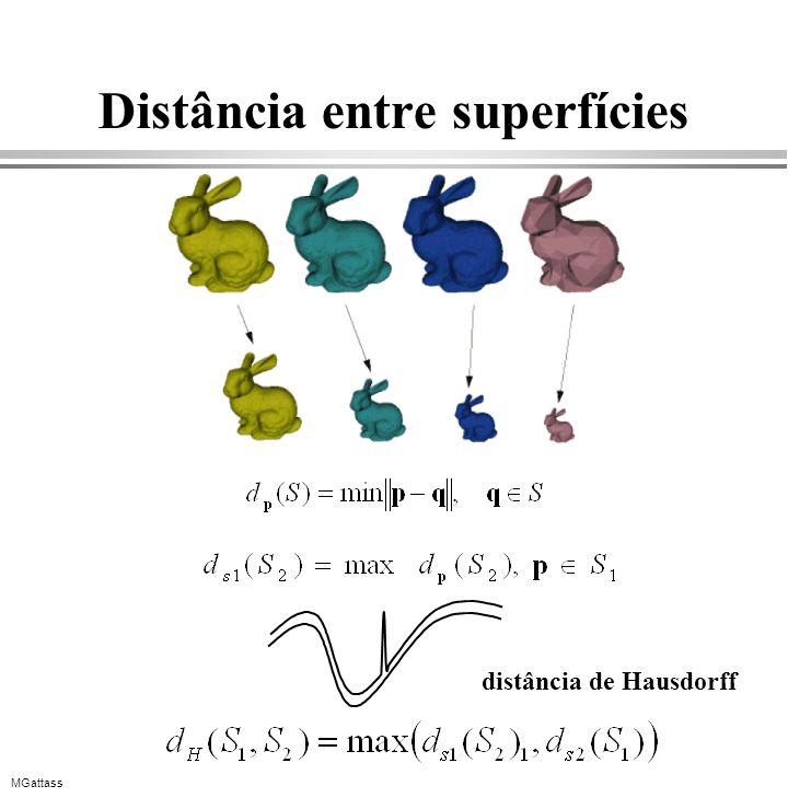 Distância entre superfícies