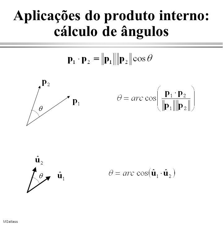 Aplicações do produto interno: cálculo de ângulos