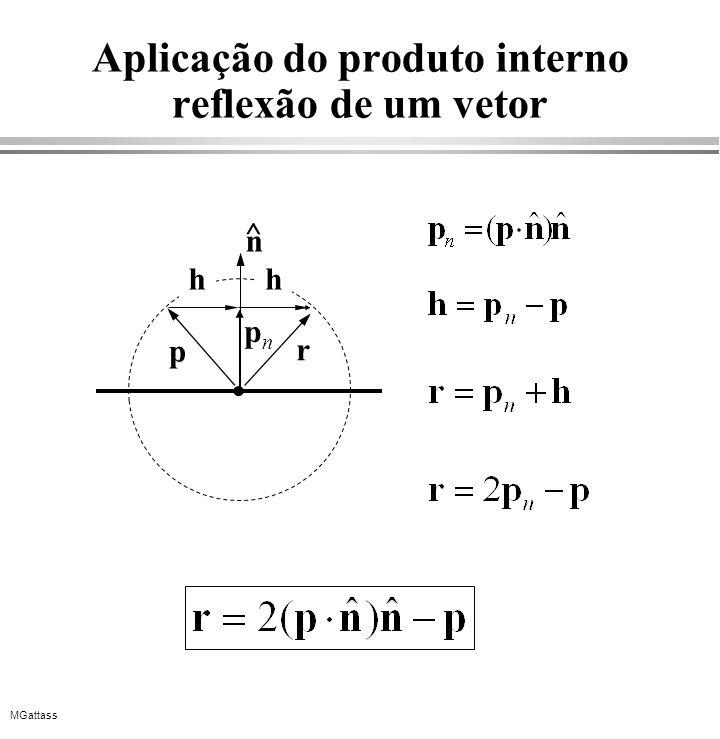 Aplicação do produto interno reflexão de um vetor