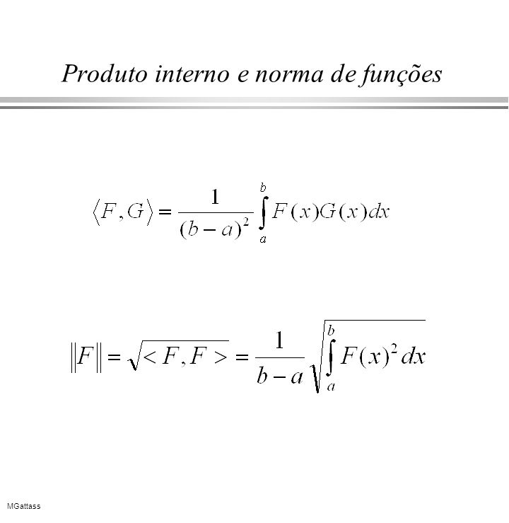 Produto interno e norma de funções