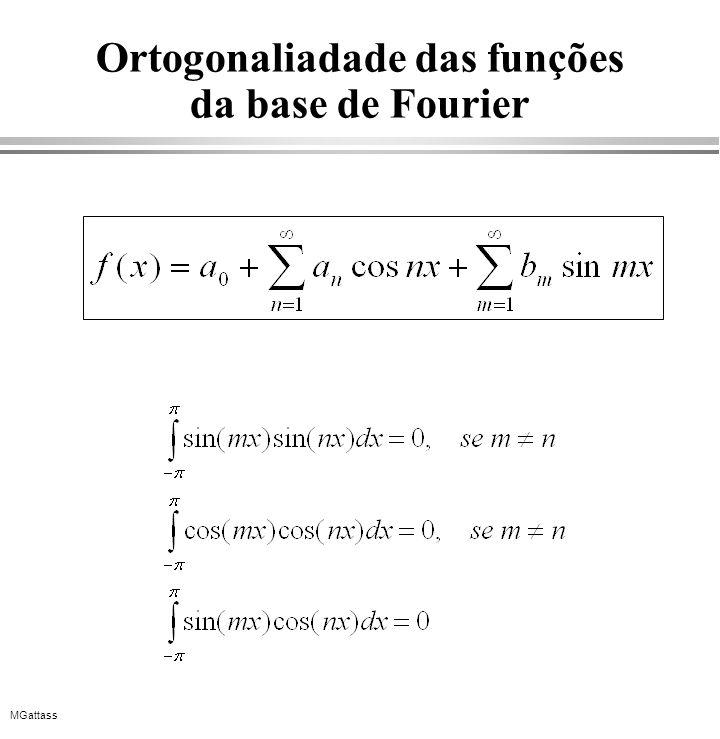 Ortogonaliadade das funções da base de Fourier