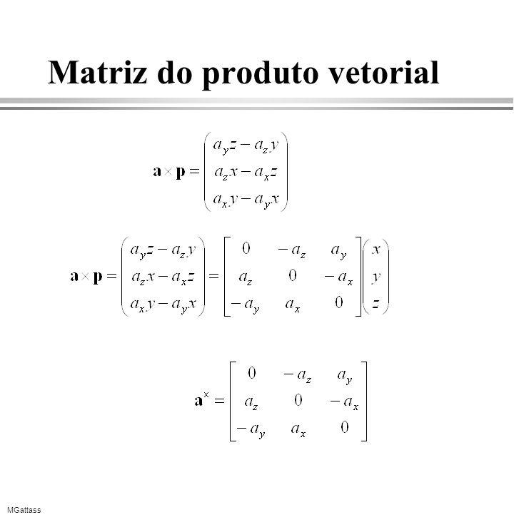 Matriz do produto vetorial