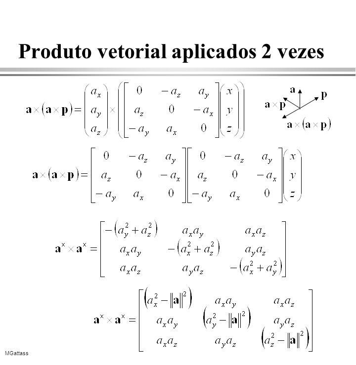Produto vetorial aplicados 2 vezes