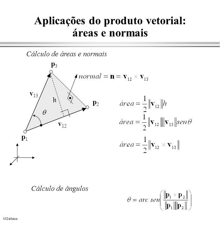 Aplicações do produto vetorial: áreas e normais