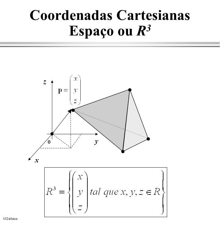 Coordenadas Cartesianas Espaço ou R3