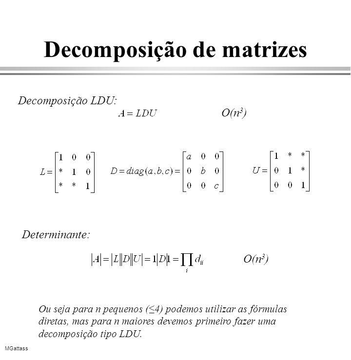 Decomposição de matrizes