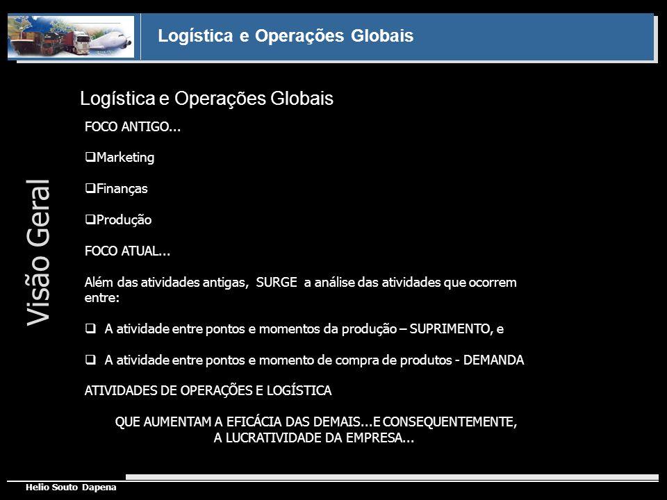 Visão Geral Logística e Operações Globais FOCO ANTIGO... Marketing
