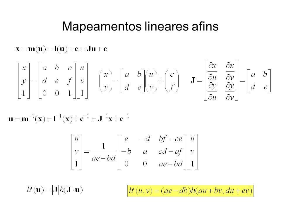 Mapeamentos lineares afins