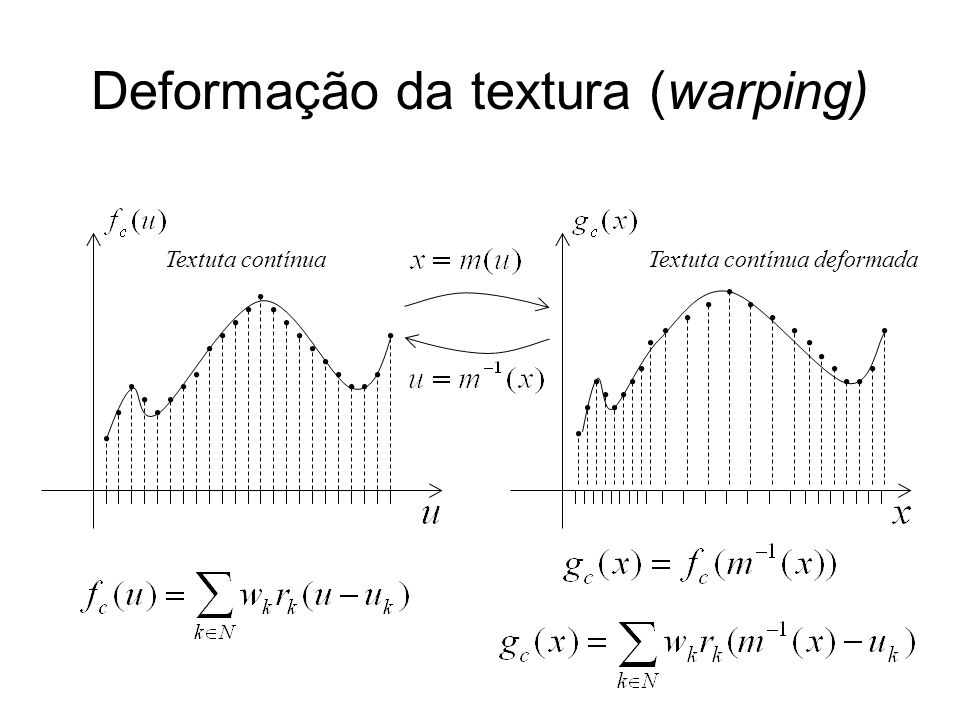Deformação da textura (warping)