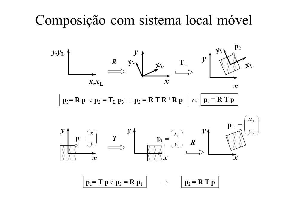 Composição com sistema local móvel