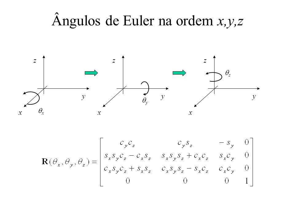 Ângulos de Euler na ordem x,y,z