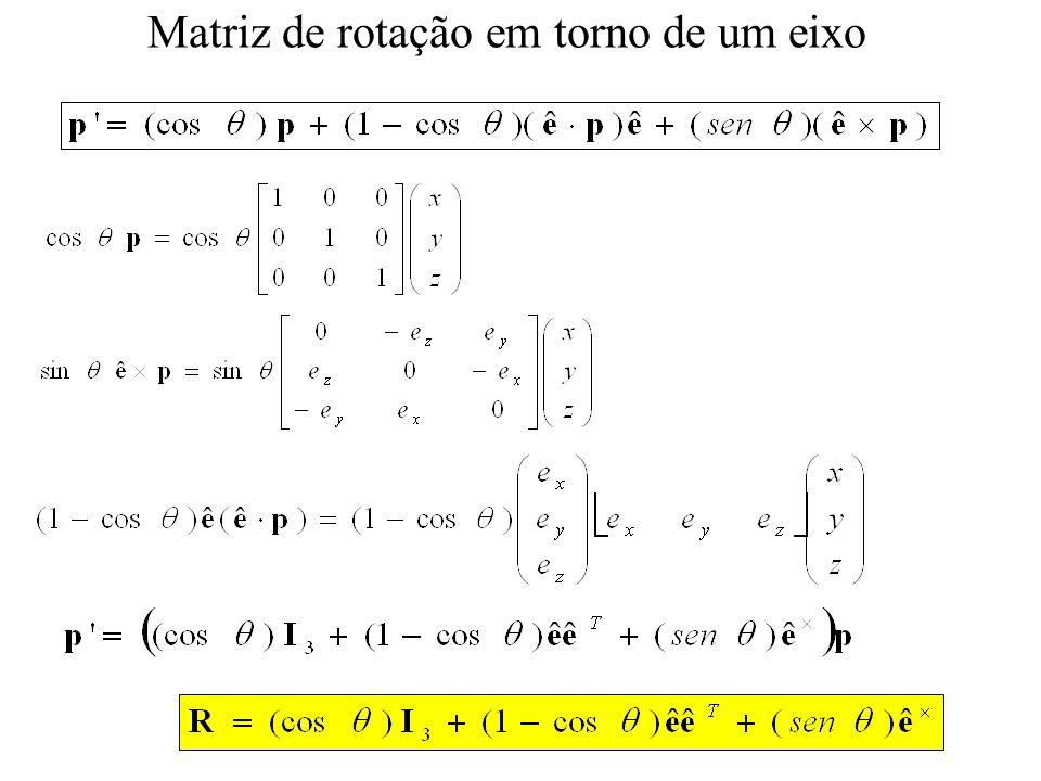 Matriz de rotação em torno de um eixo
