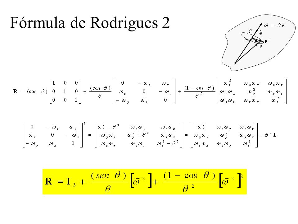 Fórmula de Rodrigues 2