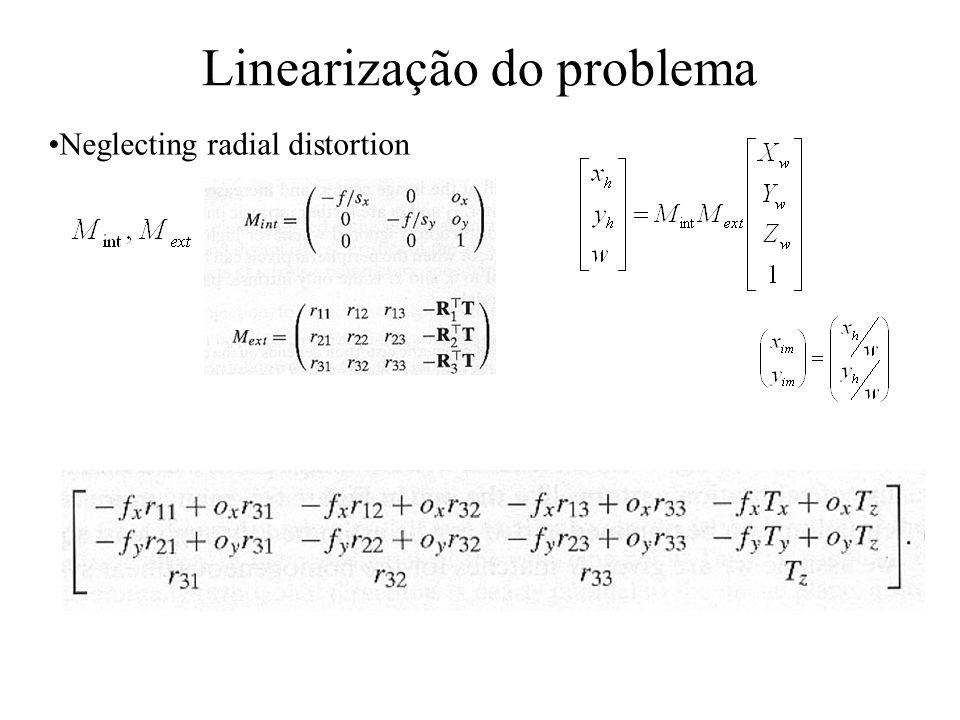 Linearização do problema