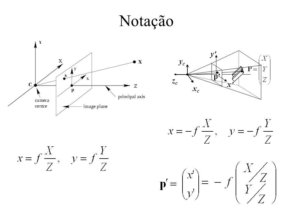 Notação y yc p' zc x xc