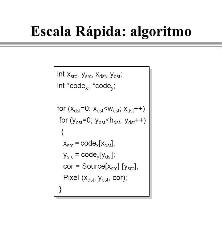 Escala Rápida: algoritmo