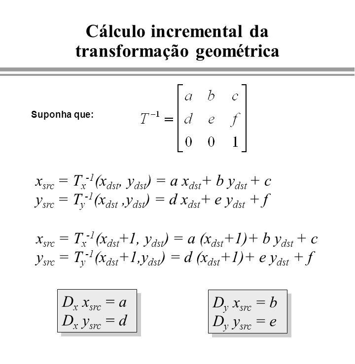 Cálculo incremental da transformação geométrica