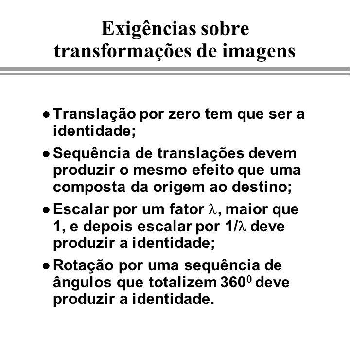 Exigências sobre transformações de imagens