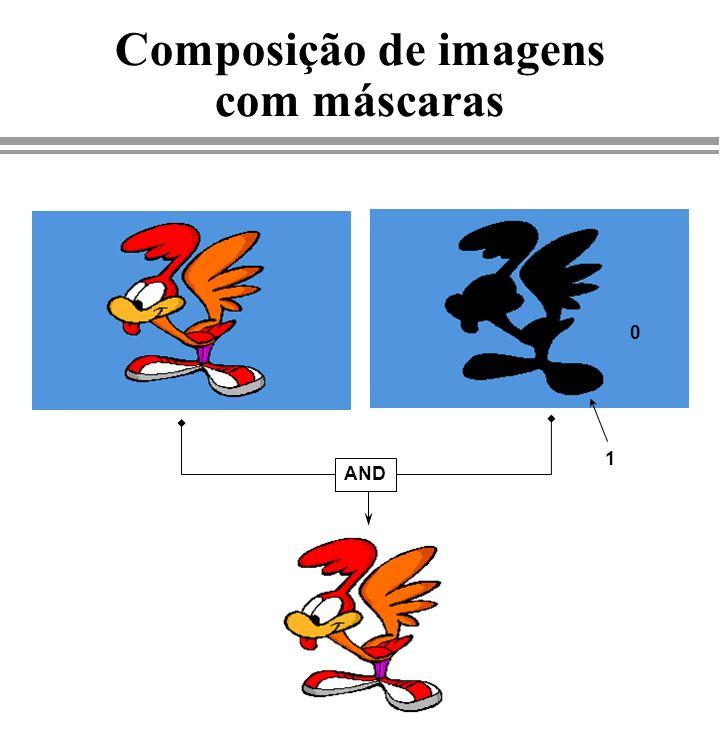 Composição de imagens com máscaras