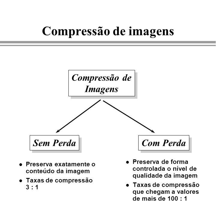 Compressão de imagens Compressão de Imagens Sem Perda Com Perda