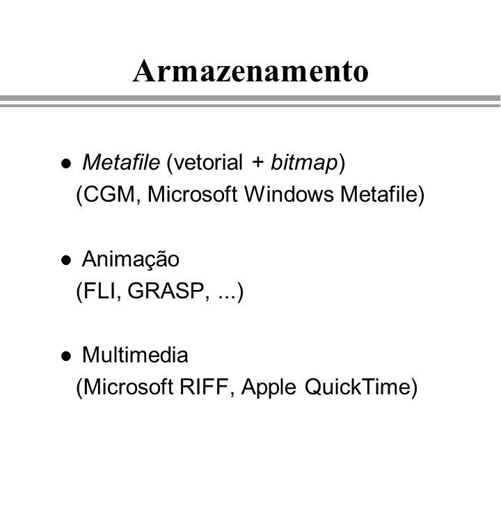 Armazenamento Metafile (vetorial + bitmap)