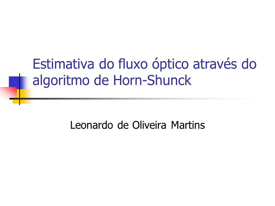 Estimativa do fluxo óptico através do algoritmo de Horn-Shunck