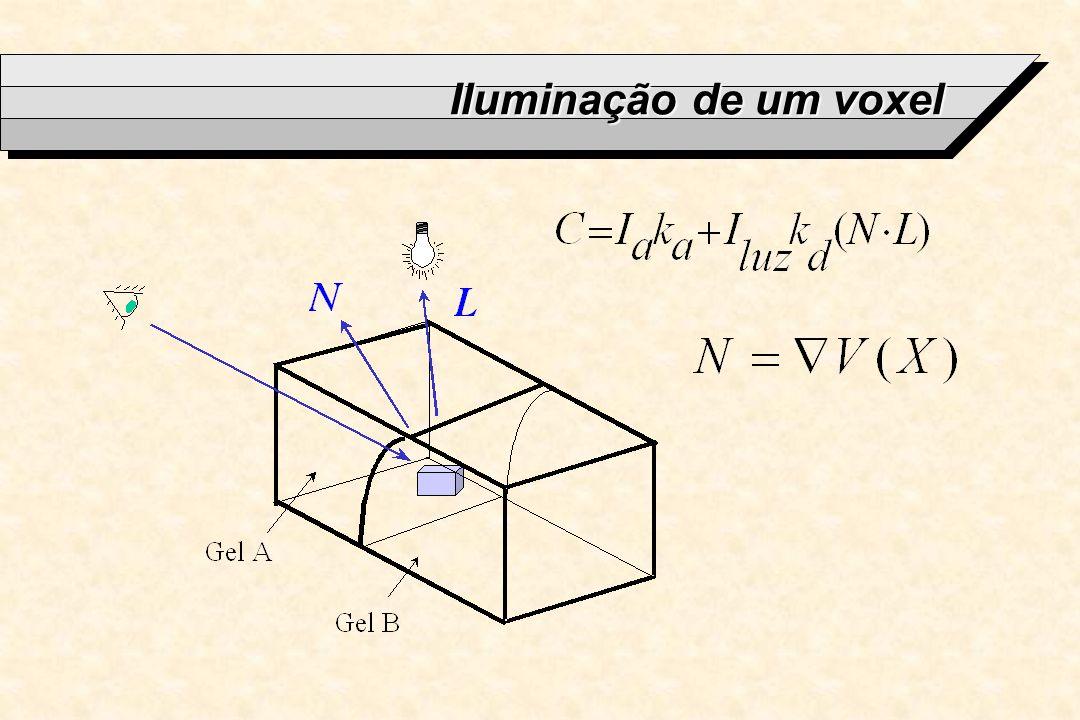 Iluminação de um voxel
