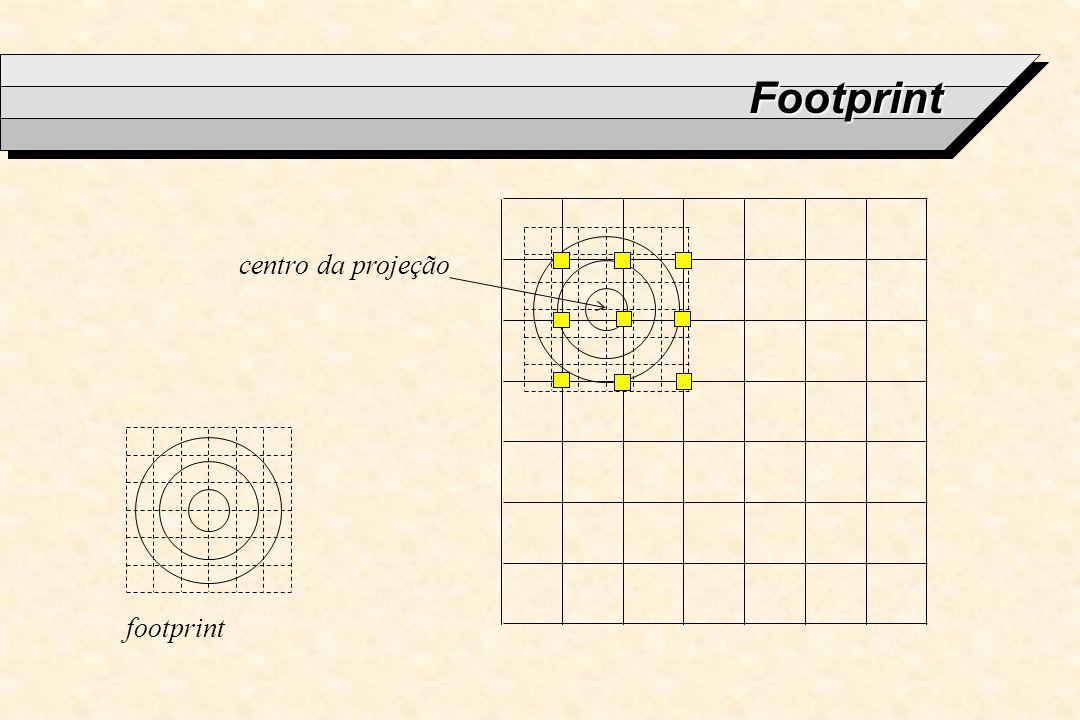 Footprint centro da projeção footprint
