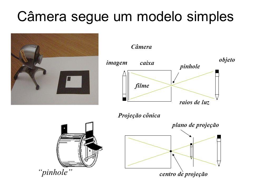 Câmera segue um modelo simples