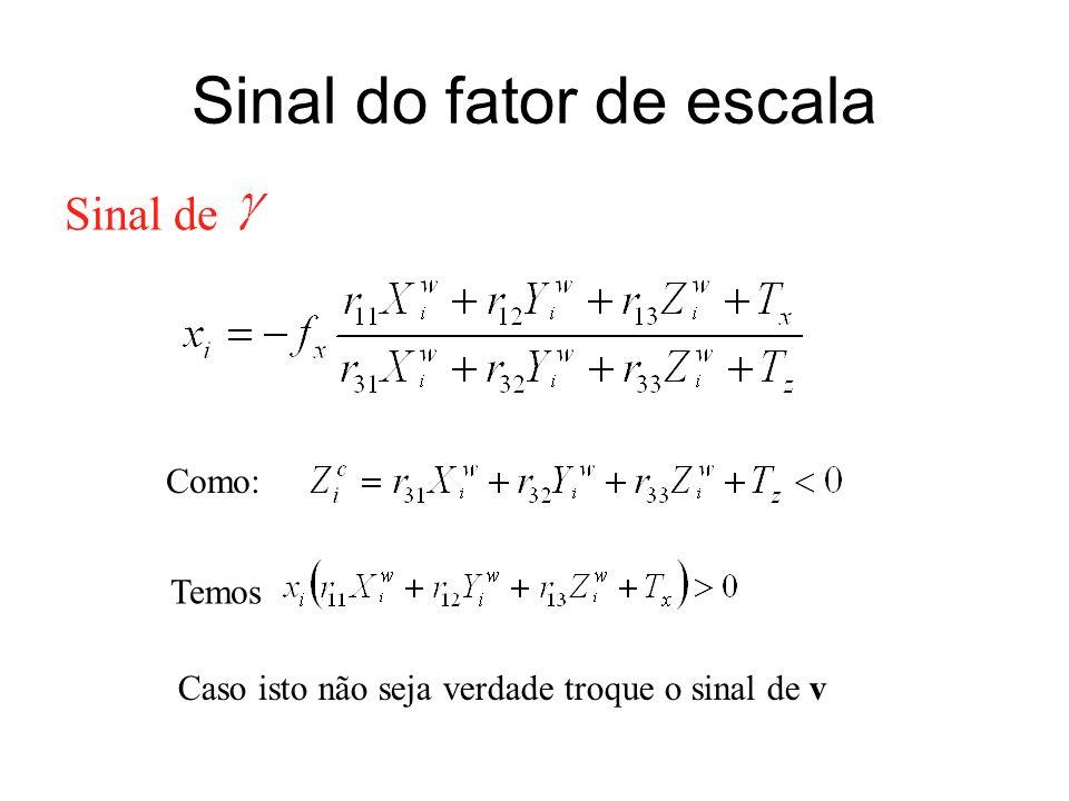 Sinal do fator de escala
