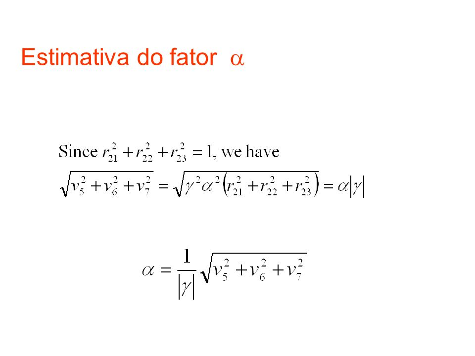 Estimativa do fator 