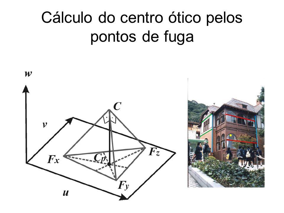 Cálculo do centro ótico pelos pontos de fuga