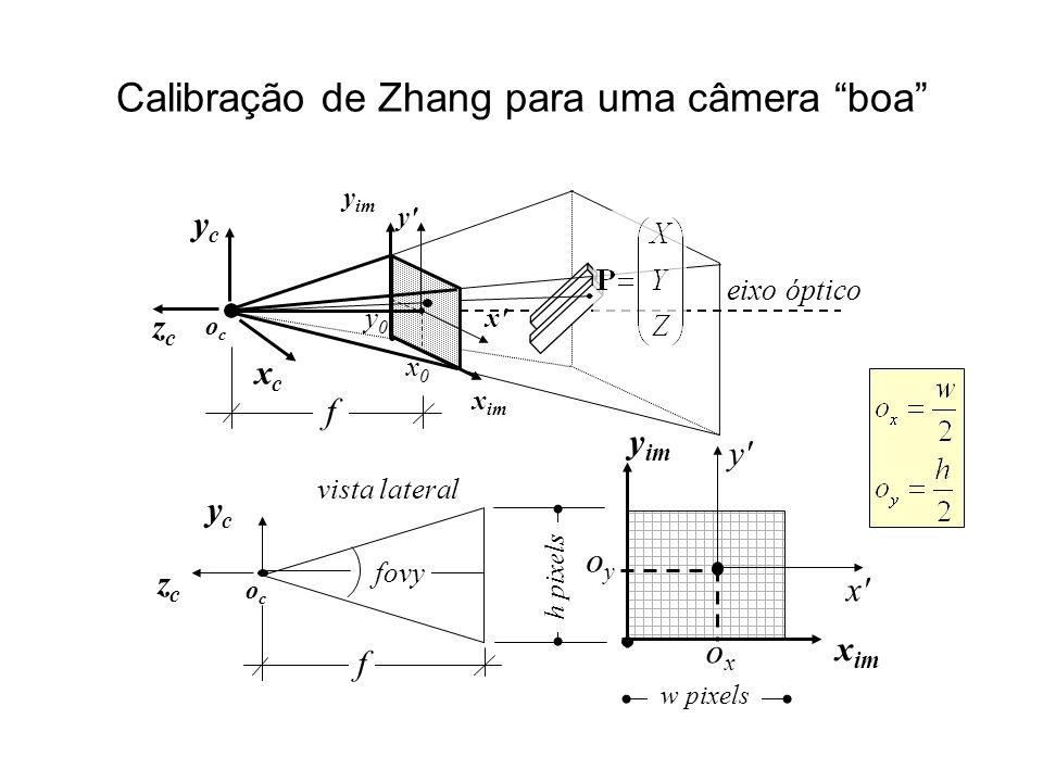 Calibração de Zhang para uma câmera boa